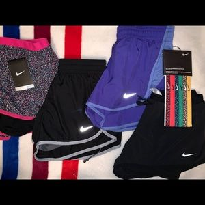 4 Nike Bundle Athletic shorts with compression